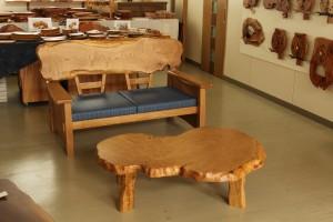 一枚板ソファ椅子 (8)